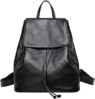 Best ladies black leather backpack Reviews