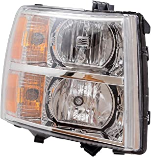 Passengers Headlight Headlamp Lens Replacement for 07-13 Silverado Pickup Truck 22853028