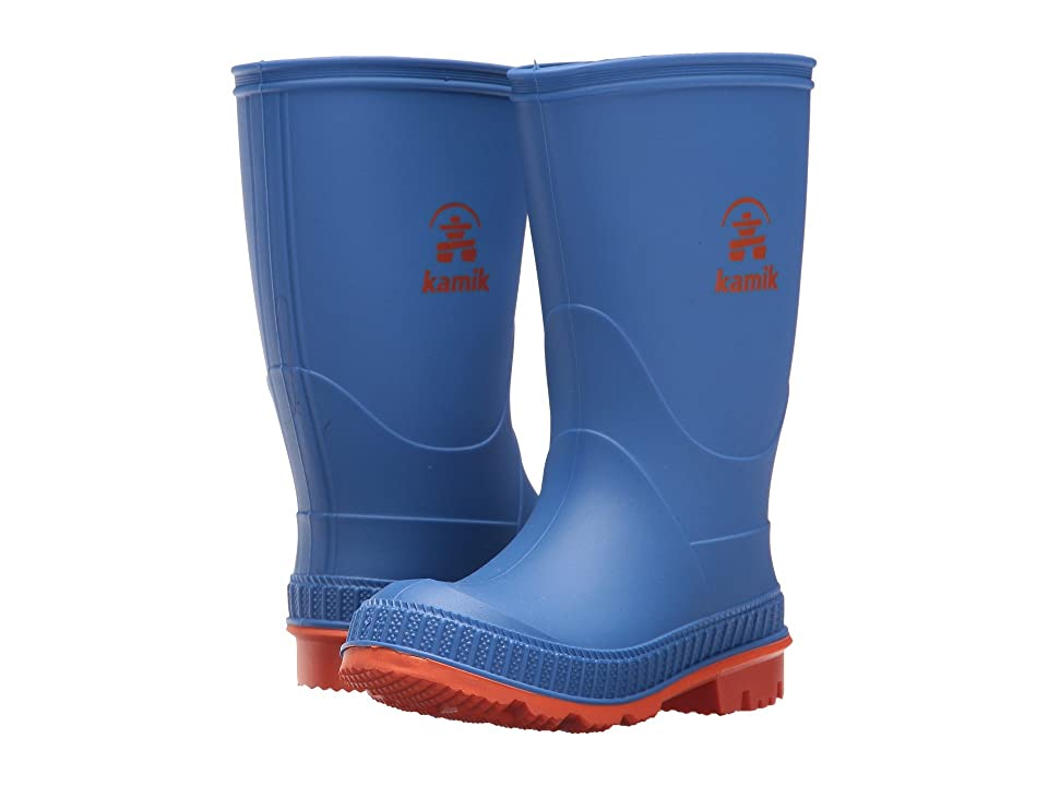 Kamik Kids Stomp (Toddler/Little Kid/Big Kid) (Blue/Orange) Boys Shoes