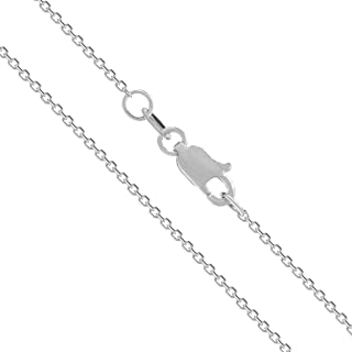 Honolulu Jewelry Company 14K Solid White Gold Cable Chain Necklace
