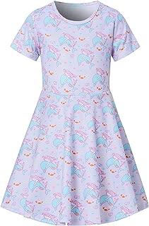 Little Girls Dress Short Sleeve 90S Toddler Sundress Summer Apparel