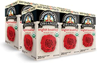 Newman's Own Organics English Breakfast Black Tea, 1.6 Ounce. Packaging May Vary.