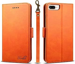 iphone8 ケース 手帳型 アイフォン7 iphone6s カードケース サイドマグネット スタンド機能 アイフォン6 スマホケース 財布型 カバー オレンジ 【4.7inch】