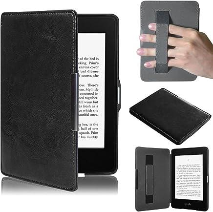 PUBAMALL Funda para Kindle Paperwhite, con Funda de Cuero Auto Sleep/Wake, para Kindle Paperwhite (Negro)