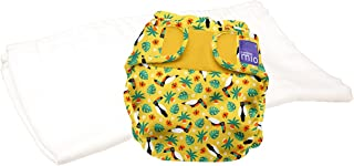 Bambino Mio, miosoft Two-Piece Nappy (Trial Pack), Tropical Toucan, Size 1 (<9kgs)