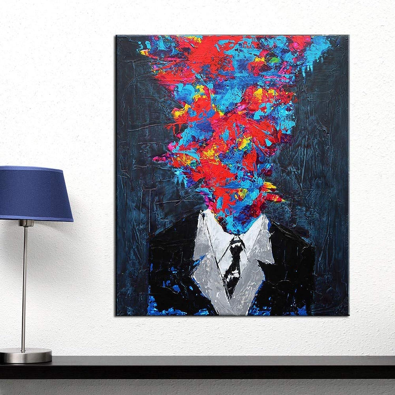 ventas al por mayor ZJMI Pintura Decorativa Arte de Parojo de de de la Persona en el Lugar de Trabajo Impresión sobre Lienzo Pintura Moderna Decoracion Carteles Cuadros de Parojo de Salón sin enmarcado-60×90cm  barato y de alta calidad