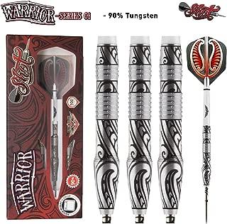 Shot! Darts Warrior-Steel Tip Dart Set-Front Weighted-90% Tungsten Barrels