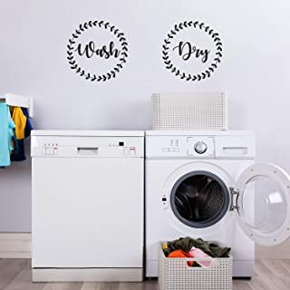 Vinyl Wall Art Decal - Wash Dry - 15