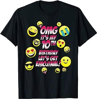 OMG It's My 10th Happy Birthday | 10 year old Boy Girl Shirt