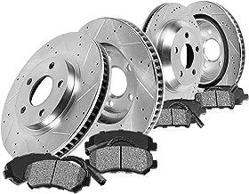 Callahan CDS02589 FRONT 336mm + REAR 352mm D/S 5 Lug [4] Rotors + Metallic Brake Pads + Clips [ Aspen Durango Ram 1500 ]