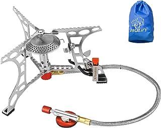 Bulin 3200W Gaskocher mit Piezozündung Faltbarer Campingkocher Outdoor Gasbrenner für..