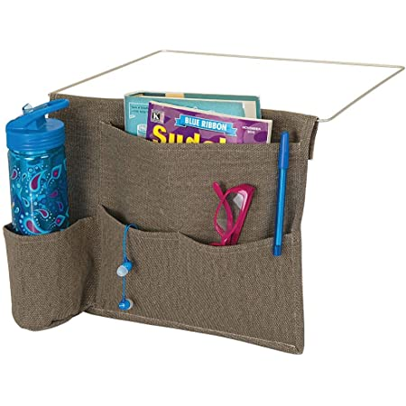 Maysurban Betttasche Filz Nachttisch-Caddy Tasche Bettablage zum Einh/ängen Anti-Rutsch Sofa Organizer H/ängeaufbewahrung f/ür die Fernbedienung Brille iPad Laptop