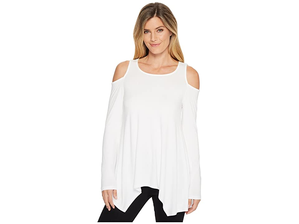 Karen Kane Cold Shoulder Handkerchief Top (Off-White) Women