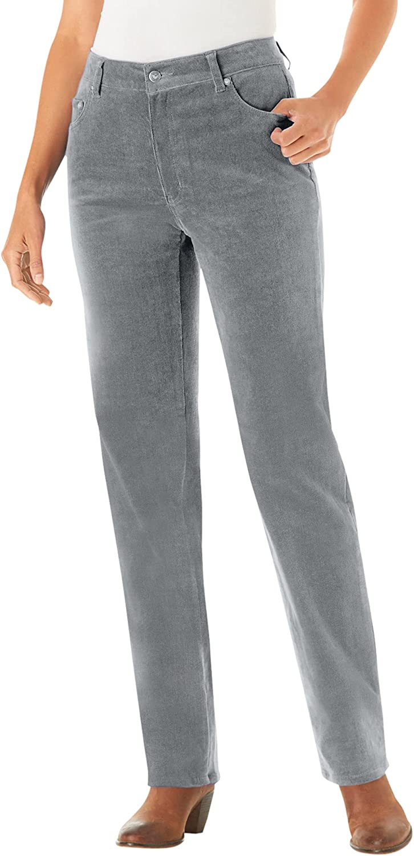 Woman Within Women's Plus Size Corduroy Straight Leg Stretch Pant