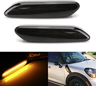 iJDMTOY Smoked Lens Full LED Fender Side Marker Blinker Lights For 2011-2016 MINI Cooper R60 Countryman R61 Paceman. Replace OEM Clear/Amber Sidemarker Lamps