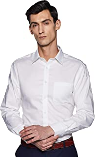 Marks & Spencer Men's Plain Regular Fit Formal Shirt