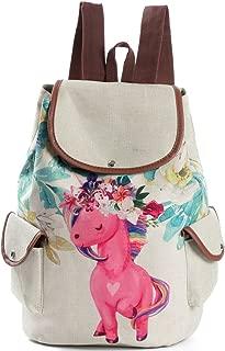 FORSHUYU Drawstring Backpack College Student Cute Bookbag Daypack Lightweight School Backpack for Girls
