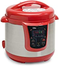 OEM Elite Platinum 8 Quart 14-in-1 Multi-Use Programmable 24-hour Delay Timer Pressure Cooker, Slow Cooker, Browning, Rice Cooker, Sauté and Warmer three different colors (Red)