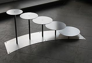 Taartstandaard, taartetagere aluminium, 5 etages, rond, bruidstaartstandaard, Ø 20-24 - 28-30 - 32 cm