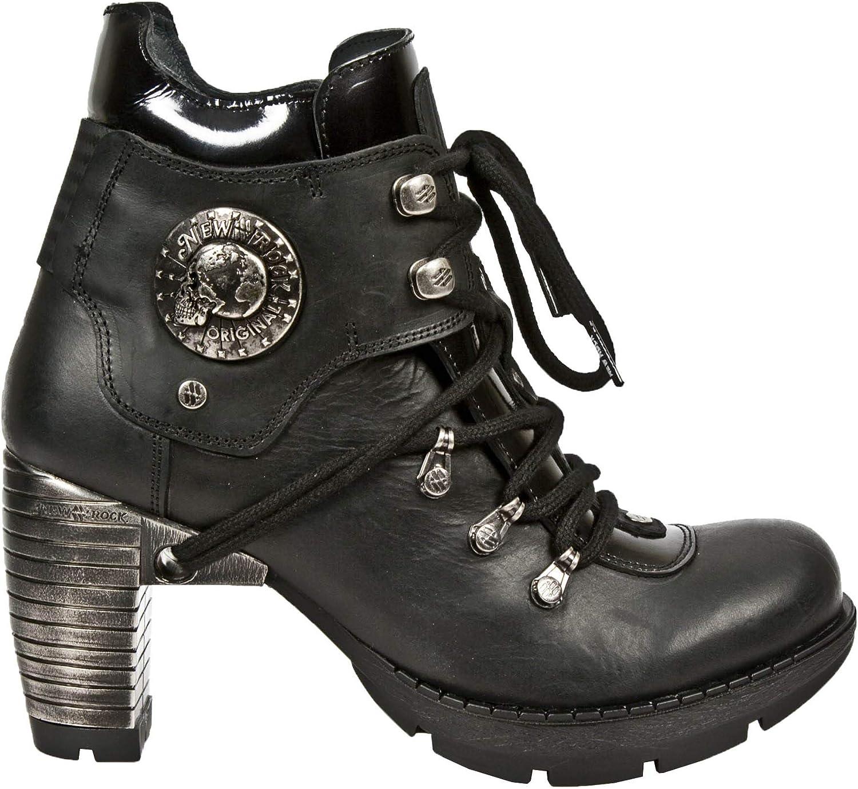 nyrock ny Rock TR010 -S1 -S1 -S1 Damer svart läder Buckle Lace Ankle höga stövlar  spara på clearance
