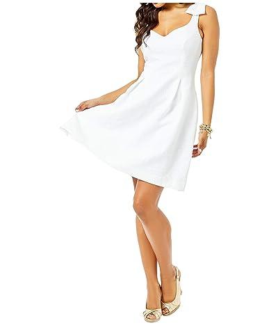 Lilly Pulitzer Linnet Stretch Dress (Resort White Hip Nautic Pucker Jacquard) Women