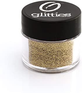 GLITTIES Gold Holographic Fine Glitter Powder- for nail art or mix with gel nail polish, gel and acrylic powder (Gold Jewel)