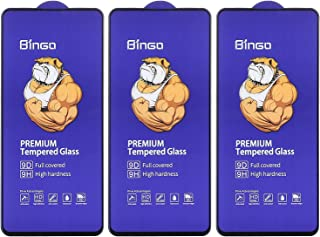 Dragon Bingo Tempered Glass 9D Screen Protector with Black Edges for Xiaomi Poco X2, Pack of 3 - Clear