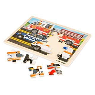 Melissa & Doug To the Rescue! Wooden Jigsaw Puzzle (24 Pieces, Great Gift for Girls and Boys - Best for 3, 4, and 5 Year Olds)