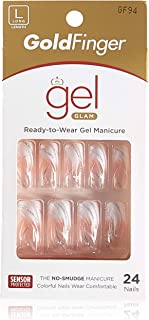 Gold Finger Posh Queen Glue-on Fashion Nails 24 ea