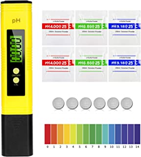MTURE PH Mètre Numérique, Testeur de qualité de l'eau digital LCD, Plage de Mesure pour 0-14 Ph, 0,01 Ph Précision, pour ...