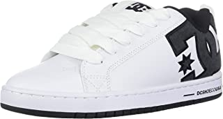 DC Men's Court Graffik Se Skate Shoe, White/Battleship, 9...