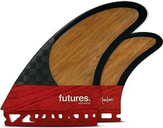 Futures Fins - Machado Twin +1 BLACKSTIX 3.0 Thruster - RED