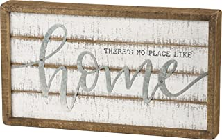Primitives by Kathy Inset Slat Box Sign There's No Place Like Home Decor