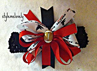 Atlanta Falcons Baby Girl Boutique Bow Crocheted Headband- Fits newborn- adult