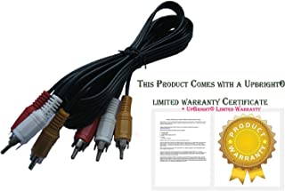 UPBRIGHT New 3 RCA to 3RCA Audio/Video AV Cable Cord Lead for Rane Serato SL1 Scratch Live DJ Interface yobo gameware FC Twin FCTwin Game Box Console Sony BDP-S1000ES BDP-S500 Blu-Ray Player