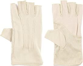 Mens Sunblock Fingerless Gloves Summer UV Protection Driving Cotton Gloves