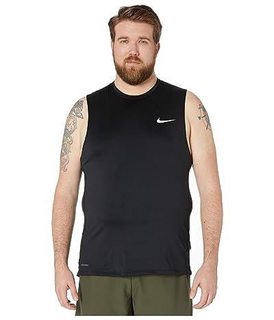 Nike Big Tall Pro Top Sleeveless Slim (Black/White) Men