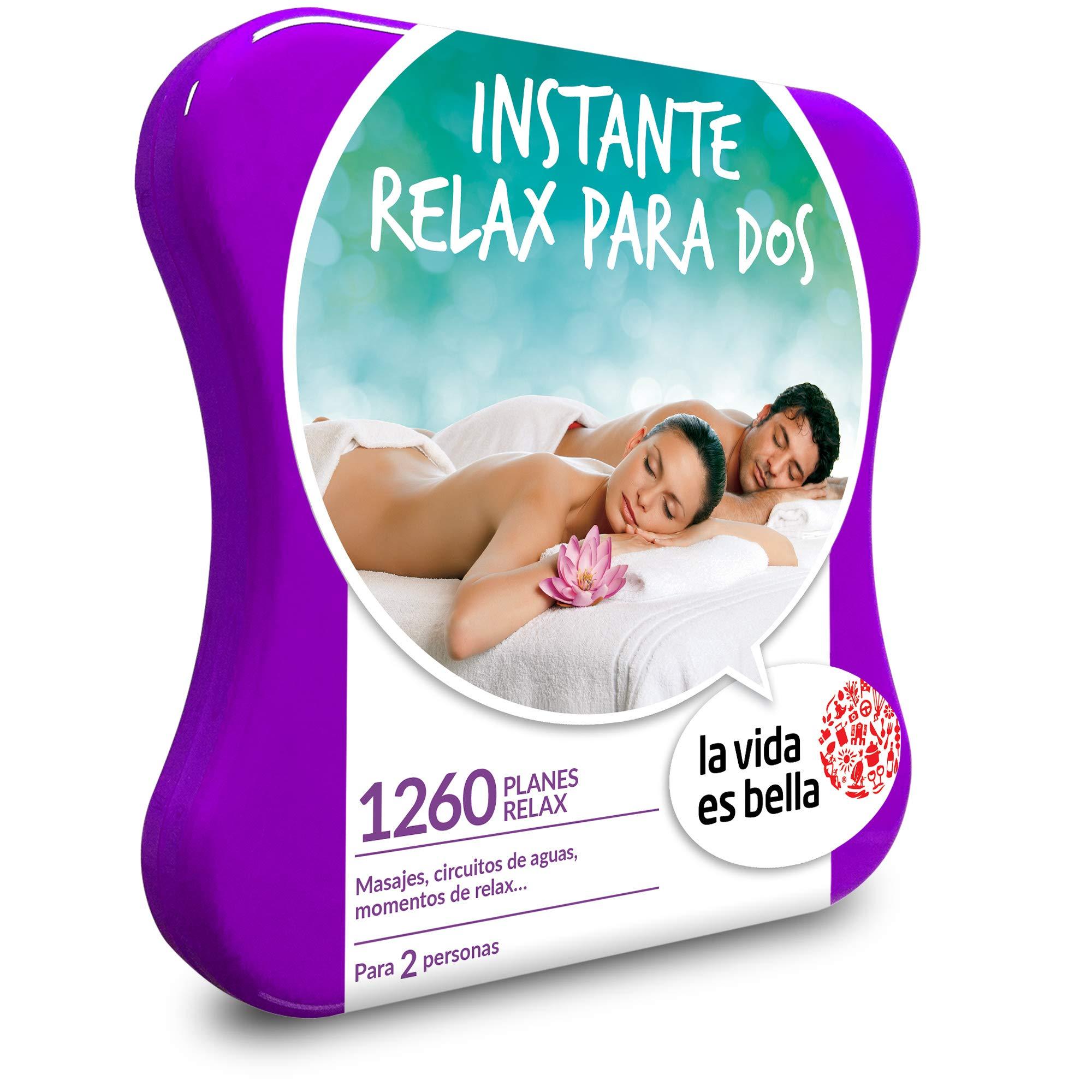 LA VIDA ES BELLA - Caja Regalo - INSTANTE RELAX PARA DOS - 1260 planes de bienestar como masajes, manicuras, circuitos de aguas y mucho más: Amazon.es: Deportes y aire libre