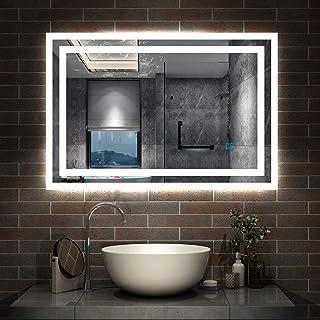 AICA sanitaire Miroir de Salle de Bain, Illumination LED avec Anti-buée, modèle Tournesol 100cmx60cm