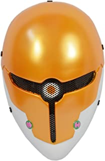 Brand New Wire Mesh Yellow Full Face Protection Paintball CS Airsoft Sci-fi Robot Mask Halloween Prop Cosplay