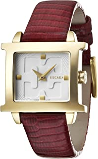 Escada Estelle Women Analogue Watch With Silver Dial And Red Leather Strap - E2030102