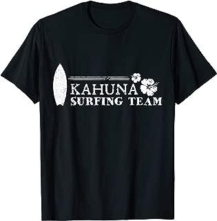 Kahuna Surfing Team Surfboard and Hibiscus Tee Shirt