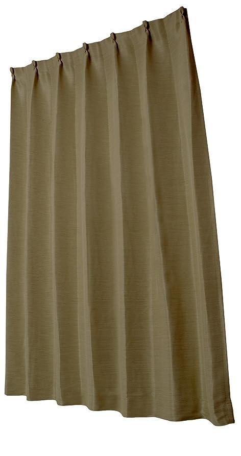 ジャンプするランチョン抹消ユニベール 遮光ドレープカーテン エコプレーン2 ブラウン 幅100×丈178cm 1枚