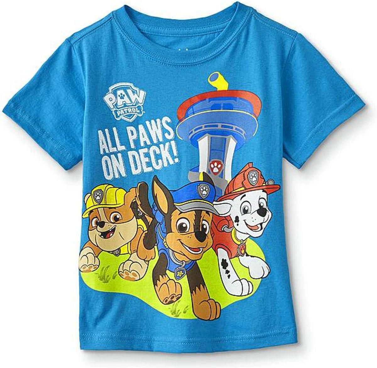 Nickelodeon Paw Patrol Toddler Boys' All Paws On Deck Tee Shirt