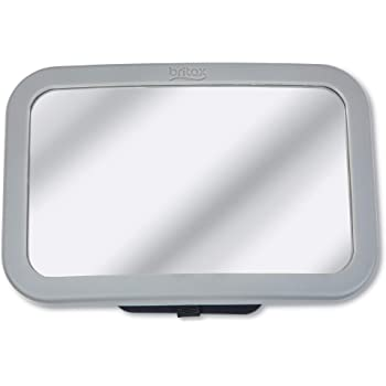 Britax Baby Car Mirror for Back Seat XL Clear View + Easily Adjusts + Crash Tested + Shatterproof