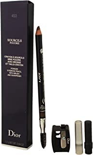 Christian Dior Sourcils Poudre Powder Eyebrow Pencil with Brush and Sharpener, 453 Soft Brown, 0.04 Fluid Ounce