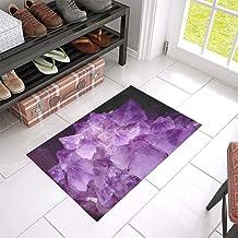 Gem Amethyst Violet Crystal Cave Druze Gem Top Unique Debora Custom Bathroom Accessories Non-Slip Bath Mat Rug Bath Doorma...
