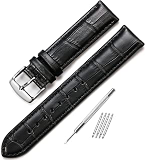 iStrap Watch Band Genuine Calf Leather Strap Alligator Grain 18mm19mm 20mm 21mm 22mm 24mm for Women Men