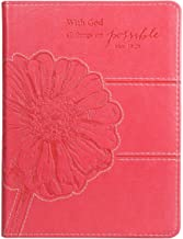 Christian Art Gifts Pink Faux Leather Journal | All Things Are Possible Mathew 19:26 Bible Verse | Handy-sized Flexcover Inspirational Notebook 240 Lined Pages, Gilt Edges, 5.5 x 7 Inches PDF