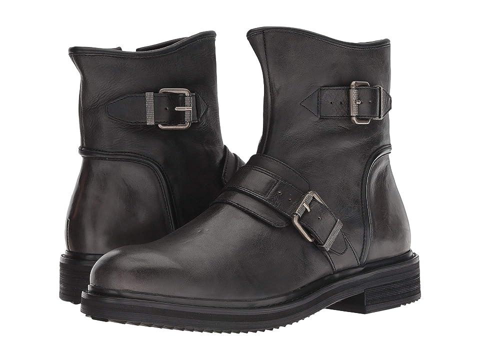 John Varvatos Cooper Moto Buckle Boot (Mineral Black) Men